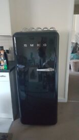 SMEG Fridge Black Beautiful. One owner £1200 new will take £350 ono