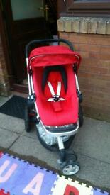 **STILL AVAILABLE** Red quinny buzz buggy/pram