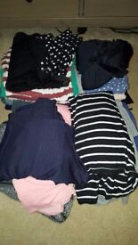 Large Bundle of Maternity Clothes - Size 10/12