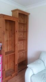 2 Pine Units with shelves