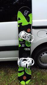 Artec snowboard and salomon bindings