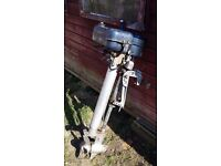 Seagull silver outboard boat engine