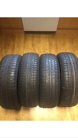 4 x Car Tyres