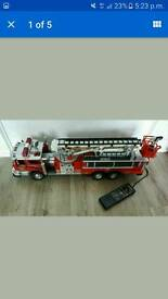 1988 new bright no.55 fire truck, vintage collectors toy, good condition