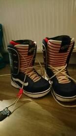 Women's vans snow boarding boots