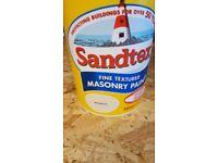 Sandtex fine textured masonry paint magnolia
