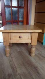 Solid pine coffee table H50cm, D60cm, W60cm