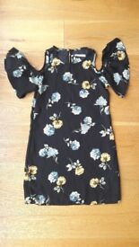 Size 8 cold shoulder flower dress ASOS