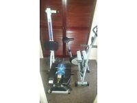 5 Pieces Excerise Equipment - Bike, Rower, Leg Machine, Lateral Thigh Trainer, Body Shaper