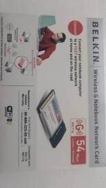 Belkin pcmcia wireless adapter