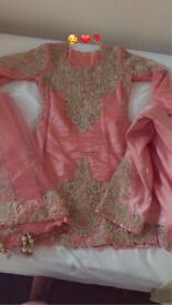 Stunning Asian pink wedding/party wear