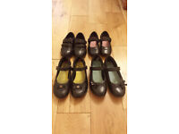 Girl's Clarks Leather School Shoes, Various Sizes, See description for details