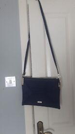 "River Island Navy ""Going out""bag"