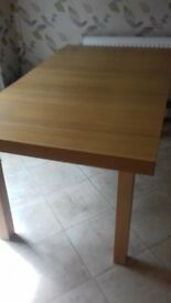 NEXT DINING TABLE BEECH EFFECT