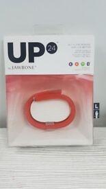 Jawbone Up 24 - Orange - Large - Fitness Tracker