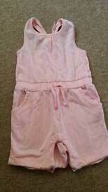 Baby girls pink playsuit 3-6