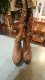 Brown women's boots