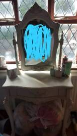 Large, heavy vintage dressing table