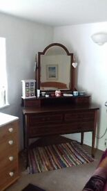 **REDUCED ONCE AGAIN! *Lovely Edwardian Dressing table & large matching mirror.