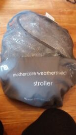 FREE !! mothercare weathershield stroller - brand new never used