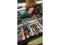 240 real dvds brilliant condion action,horror comdeys and box sets 70-80£ for them all