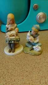 Pair of royal osborne figurines