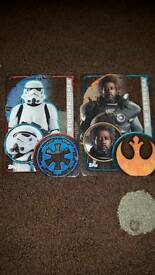 Star wars rogue on plastic cards