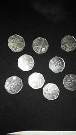 Olympic coins £2.00 each