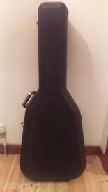 Santa Ana acoustic guitar with hard case and accessories