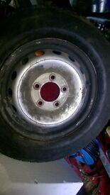 5 stud Iveco wheel bald tyre