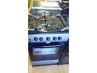 Black/grey gas COOKER 50cm graded which may have minor marks or blemishes.