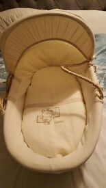 Mamas and papas moses basket with new stand for sale