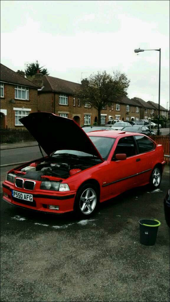 Rare Hellrot Red Bmw E36 316i 3 Series Compact Car For Sale Not M3
