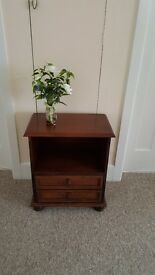 Small bookcase with 2 drawers, solid wood, heavy and in excellent condition