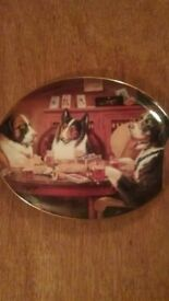 A Break In The Game, Franklin Mint Collector Plate by Brown & Bigelow