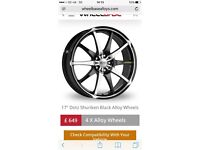 "4 stud 16"" dotz alloy wheels"