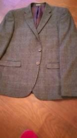Mens tweed style jacket and waistcoat