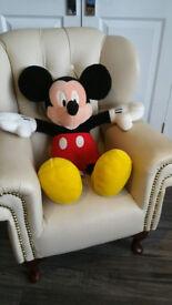 Disney Mickey & Minnie Mouse Soft Toys & Bag - Good as New