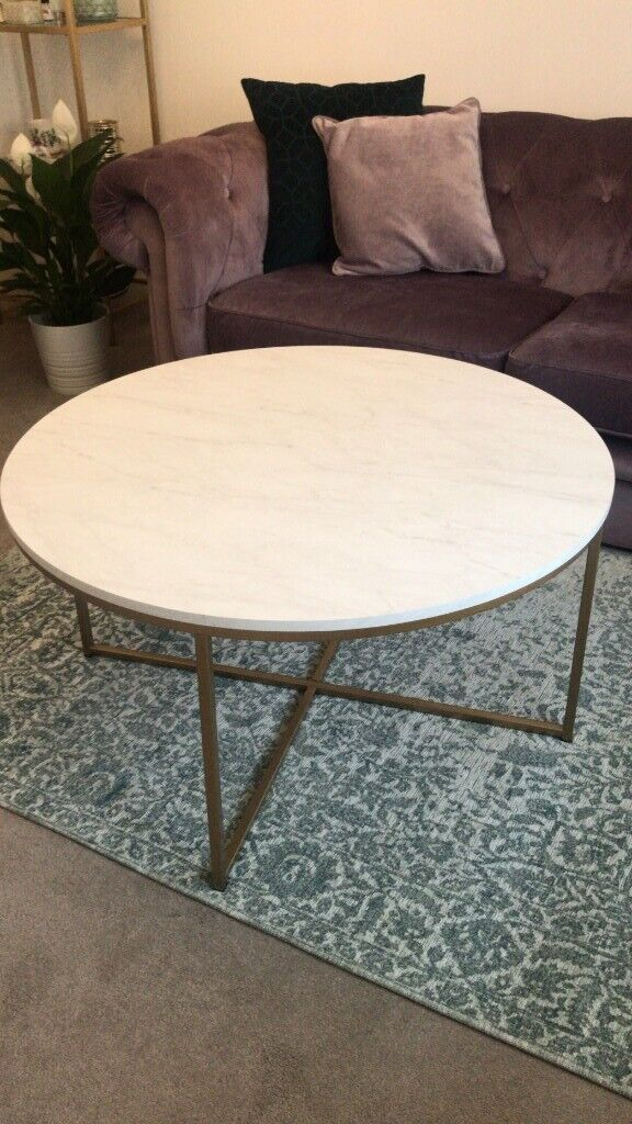 Round Amaratha White Marble Effect Coffee Table Wayfair In Thornliebank Glasgow Gumtree