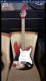 *REDUCED* Electric custom iron man guitar great xmas prezzie