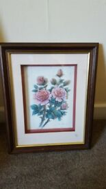 £3 each Rob Pohl 3D flowers signed and framed.