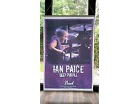 RARE & HUGE Ian Paice Deep Purple Pearl Drum Artist Promo Banner - New Condition