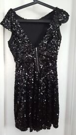 TKMax black sequin size 8 skater dress. Worn once. Very good condition. Cash and collect sale.
