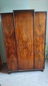 Vintage Walnut veneer wardrobe