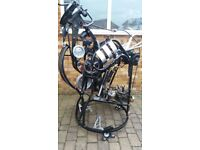 Quirky Large mechanical Sculpture.Made mainly of Motorbike/ car parts . Find another like it !!!!!!