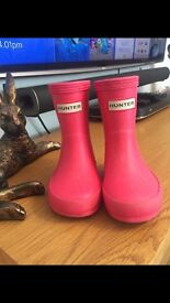 Hunter wellies toddler size 4