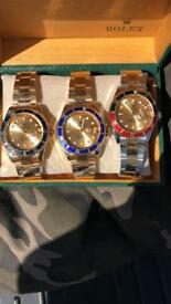 Rolex wristwatch watch gold silver green red free loc del fashion swag eid gift women's men's