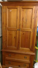 Solid Wood Wardrobe Excellent Condition