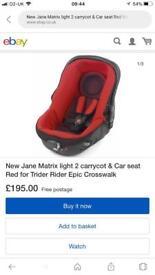 Matrix isofix and car seat
