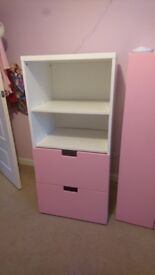 CHILDRENS DRAWERS WITH SHELVES